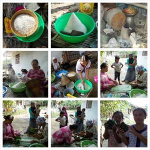 Proses Pembuatan Nasi Timbel :D
