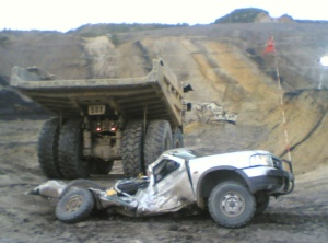 Accident in Pit Area