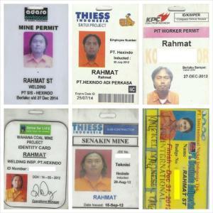 ID Card Untuk Masuk Area Pertambangan